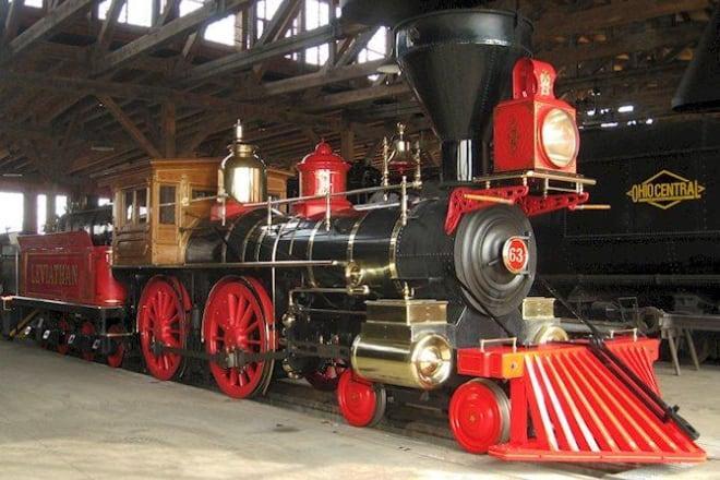restored steam locomotive