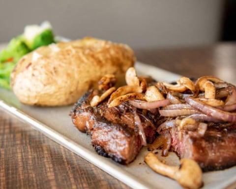 steak dinner at East Main Kitchen